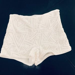 Forever 21 White Sequined High Waisted Shorts XS